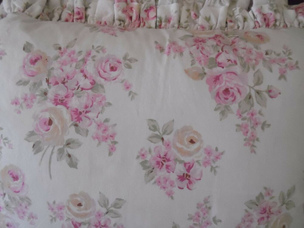 Simply Shabby Chic Decorative Pillows : SIMPLY SHABBY CHIC BLUSH ROSE RED/PINK/CREAM DOUBLE RUFFLED DECORATIVE PILLOW eBay