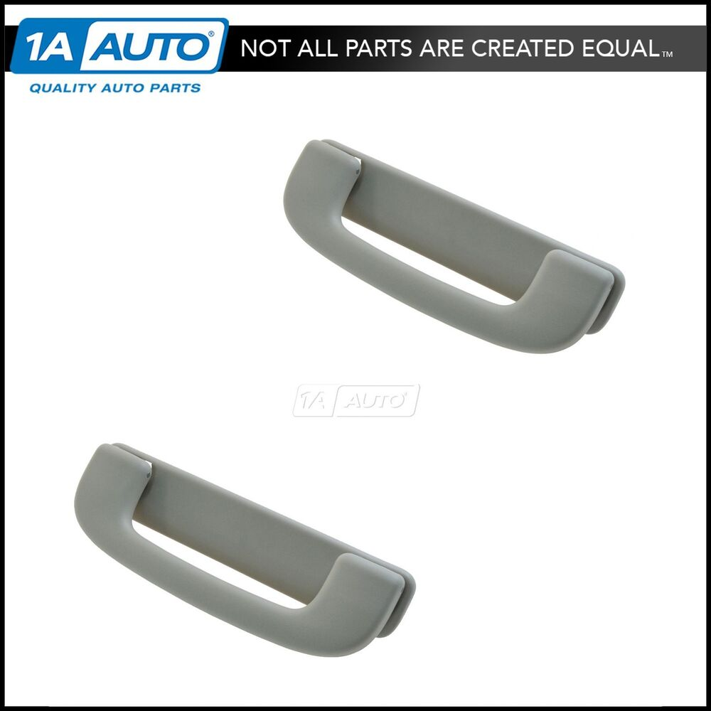 oem interior grab handle roof mounted light gray lh rh kit pair for chevy gmc ebay. Black Bedroom Furniture Sets. Home Design Ideas