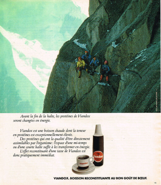 PUBLICITE ADVERTISING 055  1976  VIANDOX  boisson reconstituante