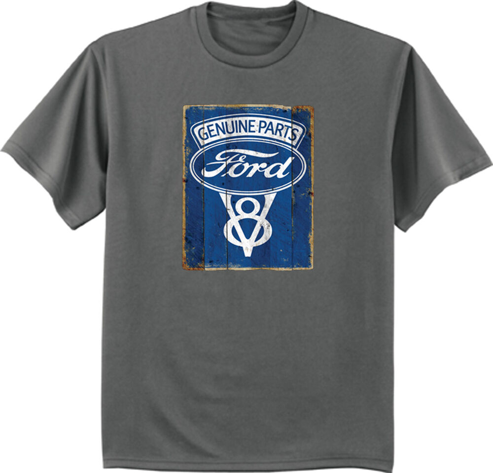 ford v8 t shirt ford t shirts ford motor company tin sign. Black Bedroom Furniture Sets. Home Design Ideas