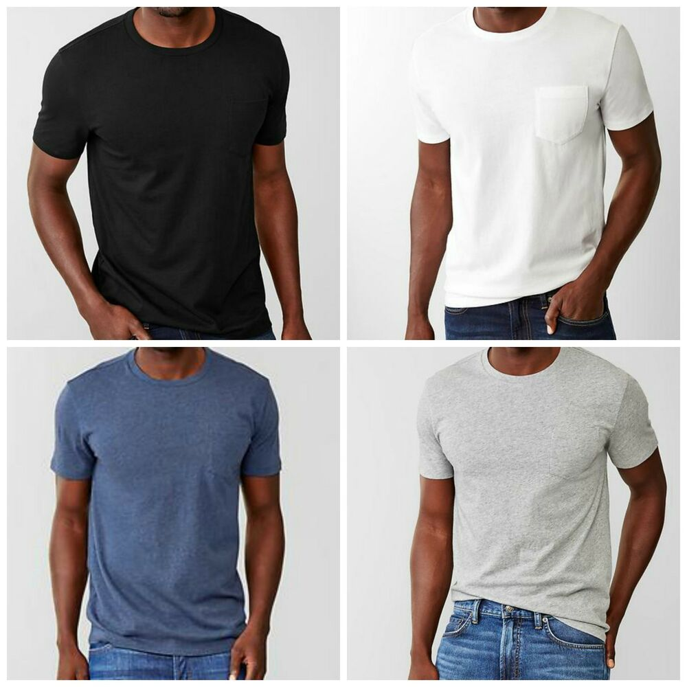 New gap mens the essential pocket short sleeve tee t shirt for Gap petite t shirts