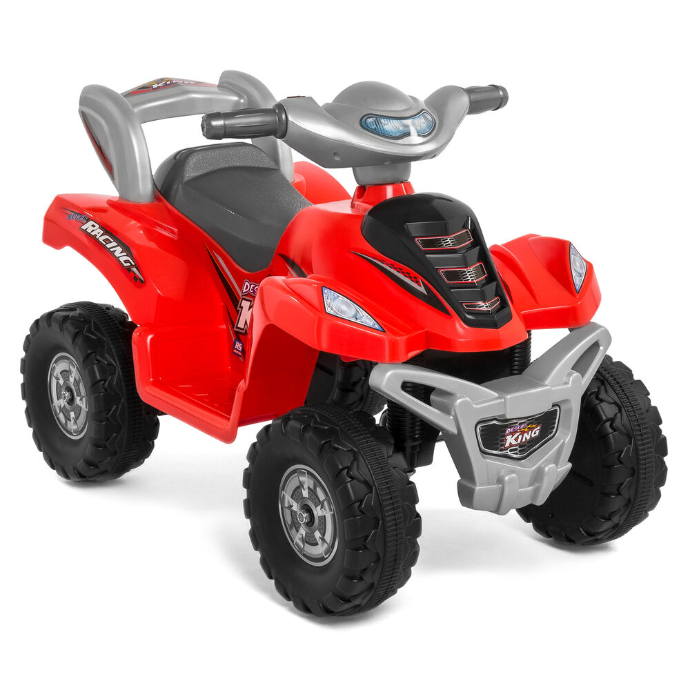 kids ride on atv 6v toy quad battery power electric 4 wheel power bicycle red ebay. Black Bedroom Furniture Sets. Home Design Ideas