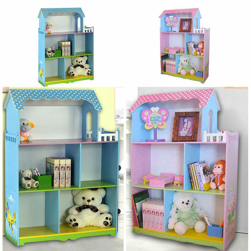 House Bookshelf: CHILDREN FURNITURE KIDS GIRL/BOYS DOLL HOUSE WITH BOLCONY