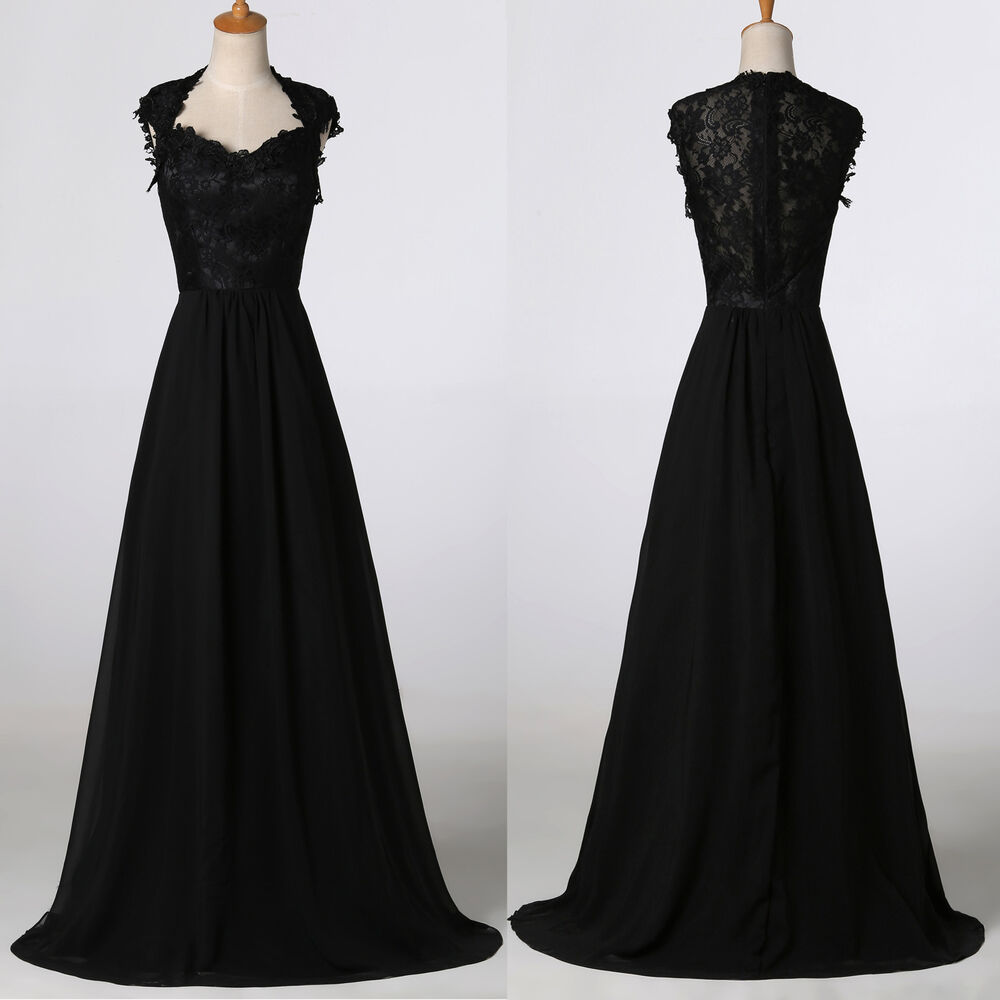 New Sexy Long Lace Evening Party Ball Prom Gown Formal ...