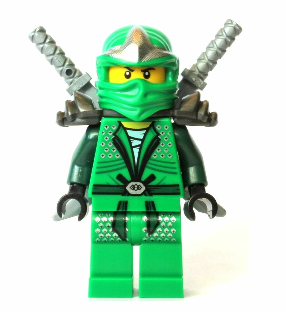 Lego Lloyd ZX GREEN NINJA Ninjago Minifigure WITH 2 SWORDS ...