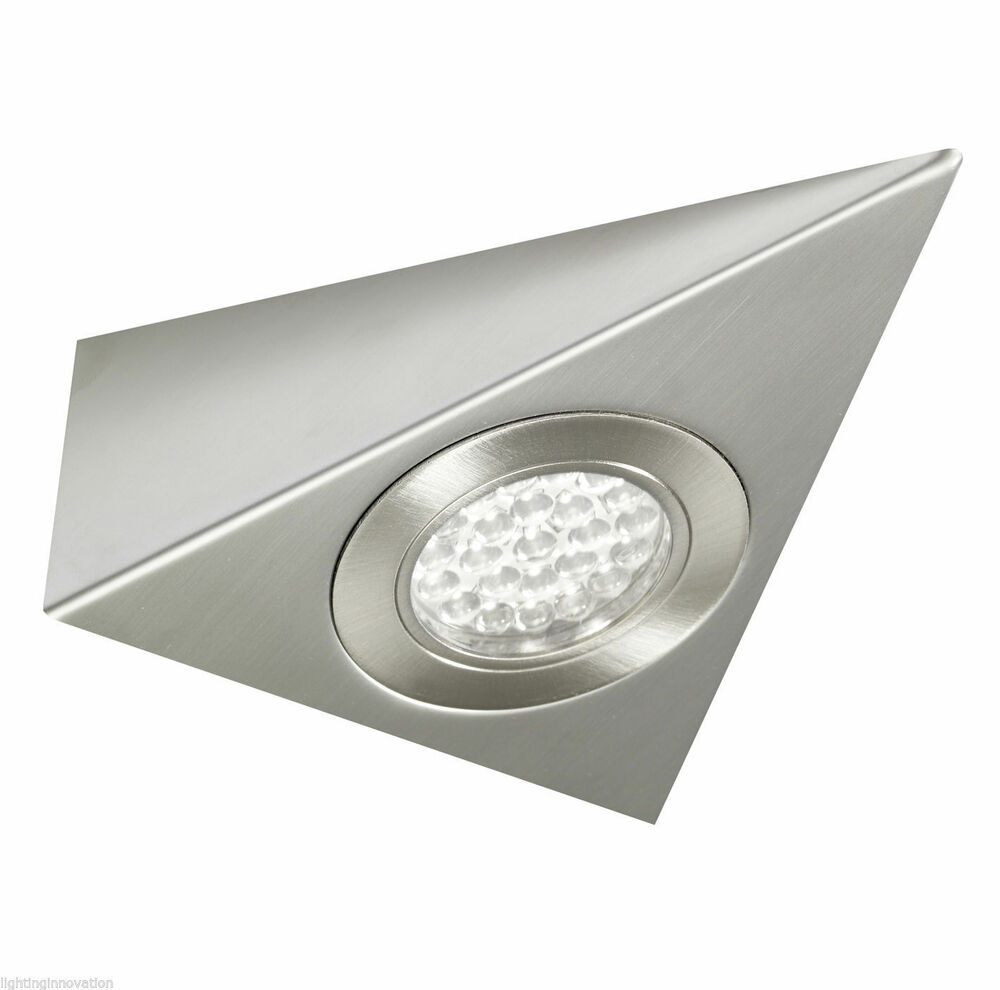 LED KITCHEN UNDER CABINET CUPBOARD TRIANGLE LIGHT KIT COOL