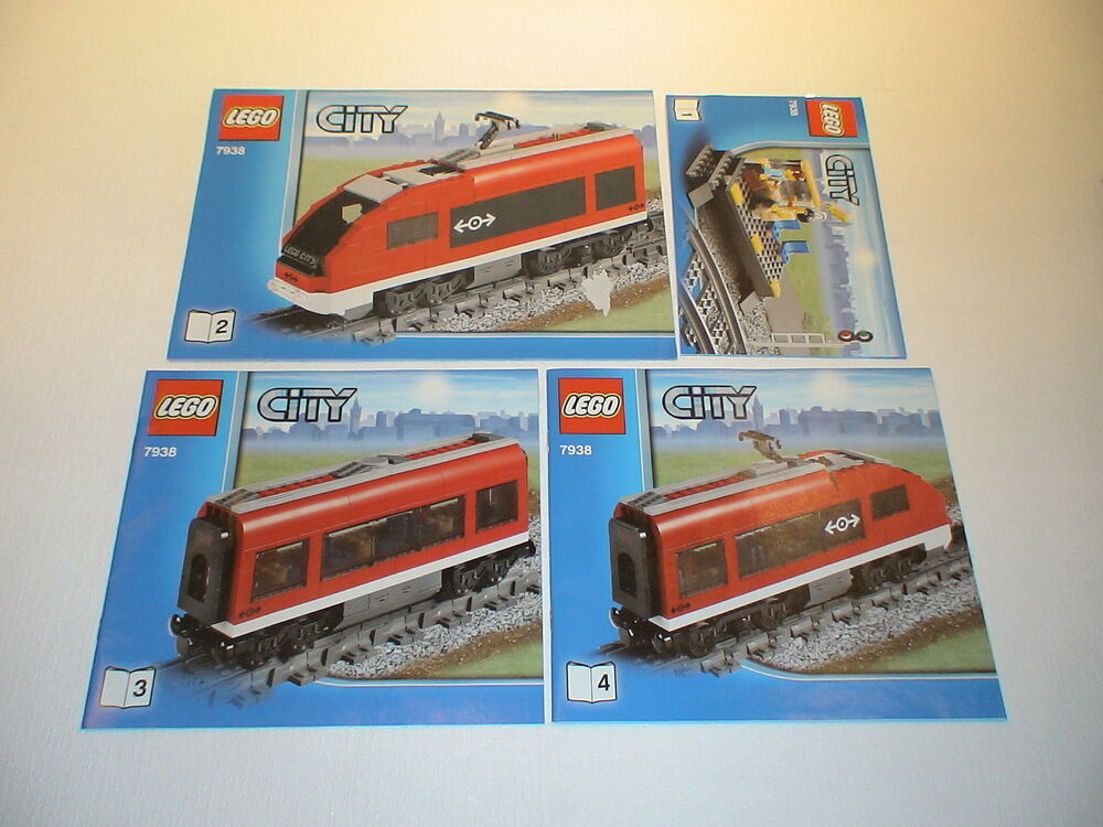 lego eisenbahn bauanleitung bauplan 7938 neu ebay. Black Bedroom Furniture Sets. Home Design Ideas