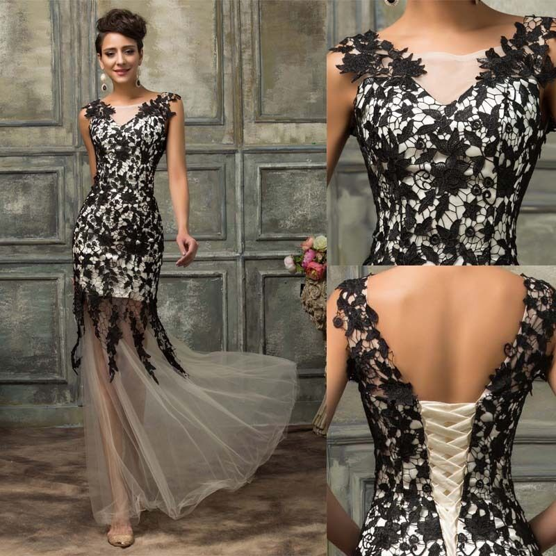 long formal wedding evening party cocktail dress bridesmaid masquerade prom gown ebay. Black Bedroom Furniture Sets. Home Design Ideas