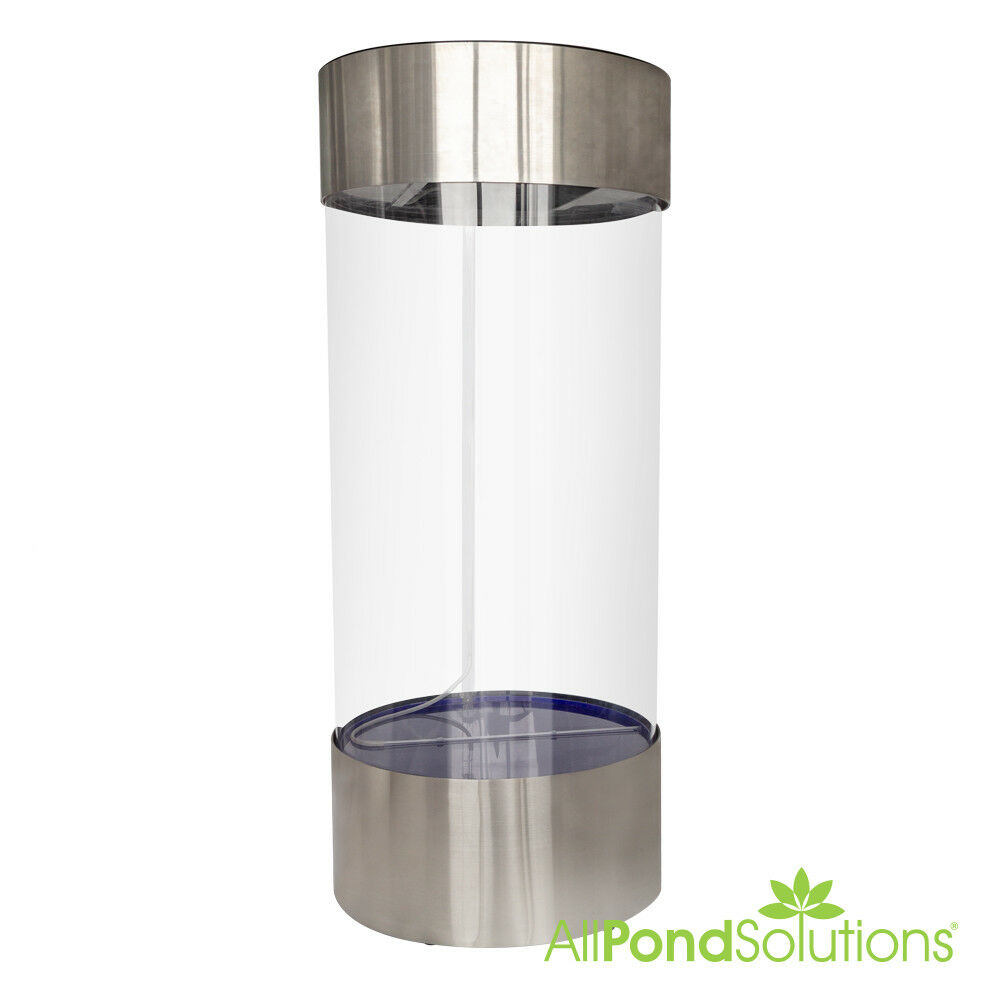 stainless steel acrylic column cylinder aquarium fish tank all pond solutions ebay. Black Bedroom Furniture Sets. Home Design Ideas