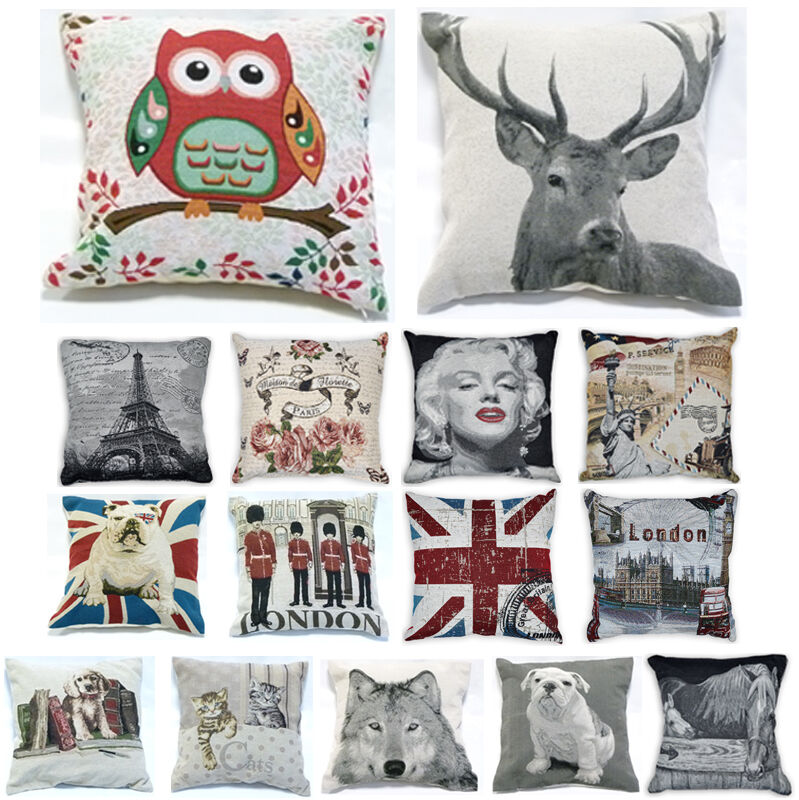 Vintage retro tapestry cushion covers or filled cushions for Style my bedroom