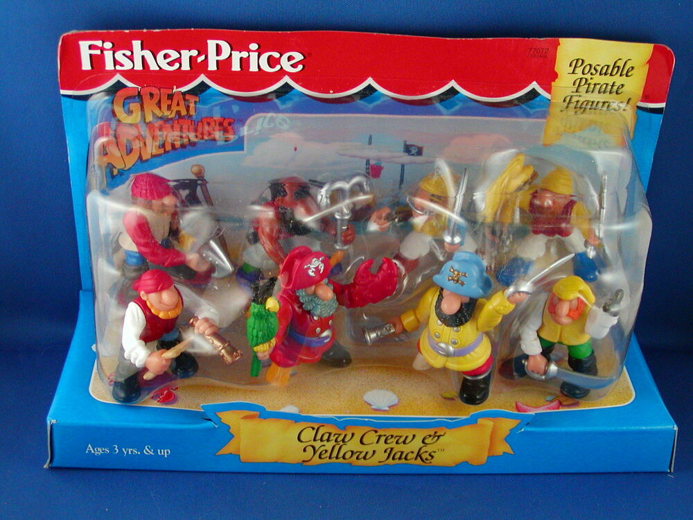 Toys And Adventures : Fisher price great adventure pirate claw crew yellow jacks