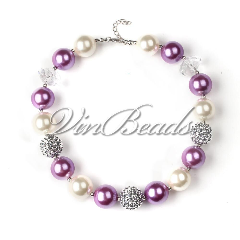 new chunky bead bubblegum necklace for gift chunky