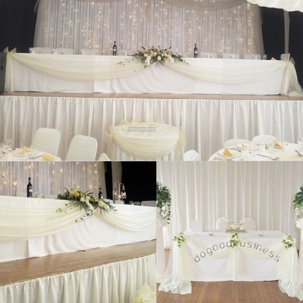 Best Diy Wedding: 5M*1.35M Top Table Swags Sheer Organza DIY Wedding Party