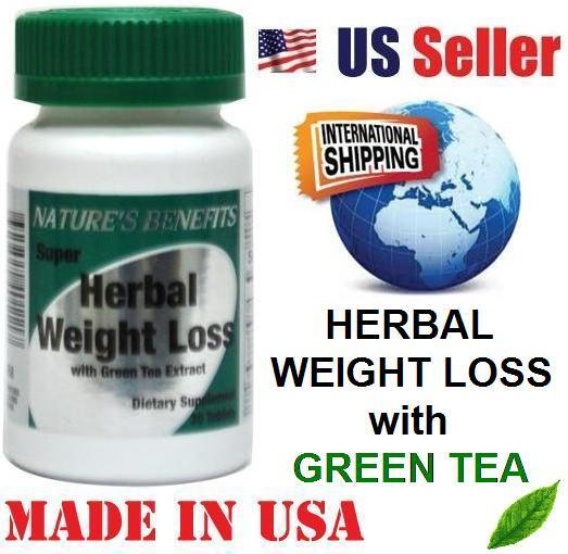 SUPER HERBAL WEIGHT LOSS wiith GREEN TEA - 30 Tablets ...