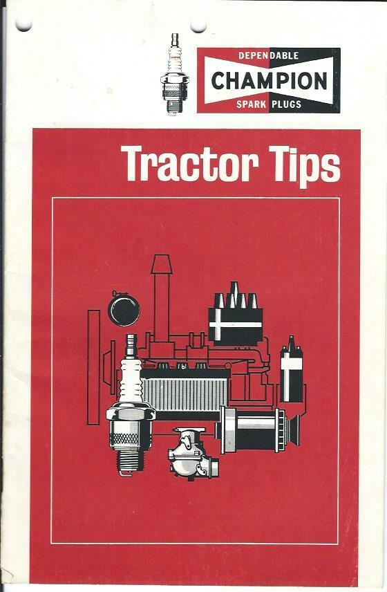 Farm Tractor Spark Plugs : Farm equipment brochure champion spark plugs tractor