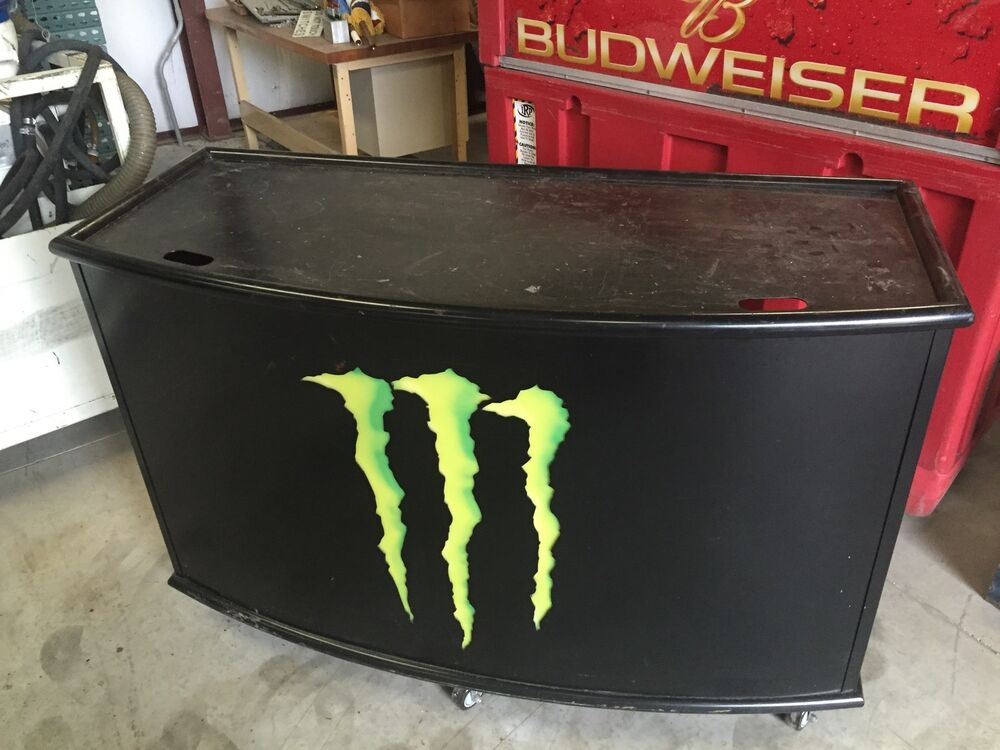 Man Cave Drinks Bar : Monster energy drink lighted mobile serving bar counter