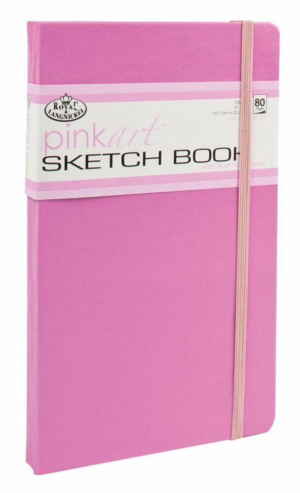 Book Cover Paper Gsm : Hard back pink cover sketching drawing artist book pad