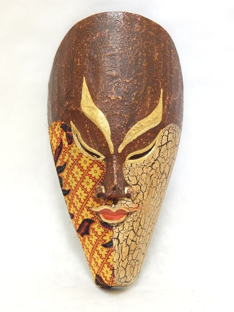 Wall Decoration With Masks : Wooden african mask tiki tribal bali wall decor art