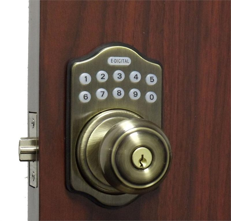 digital keyless electronic door lock knob ab touchpad code remote capable ebay. Black Bedroom Furniture Sets. Home Design Ideas