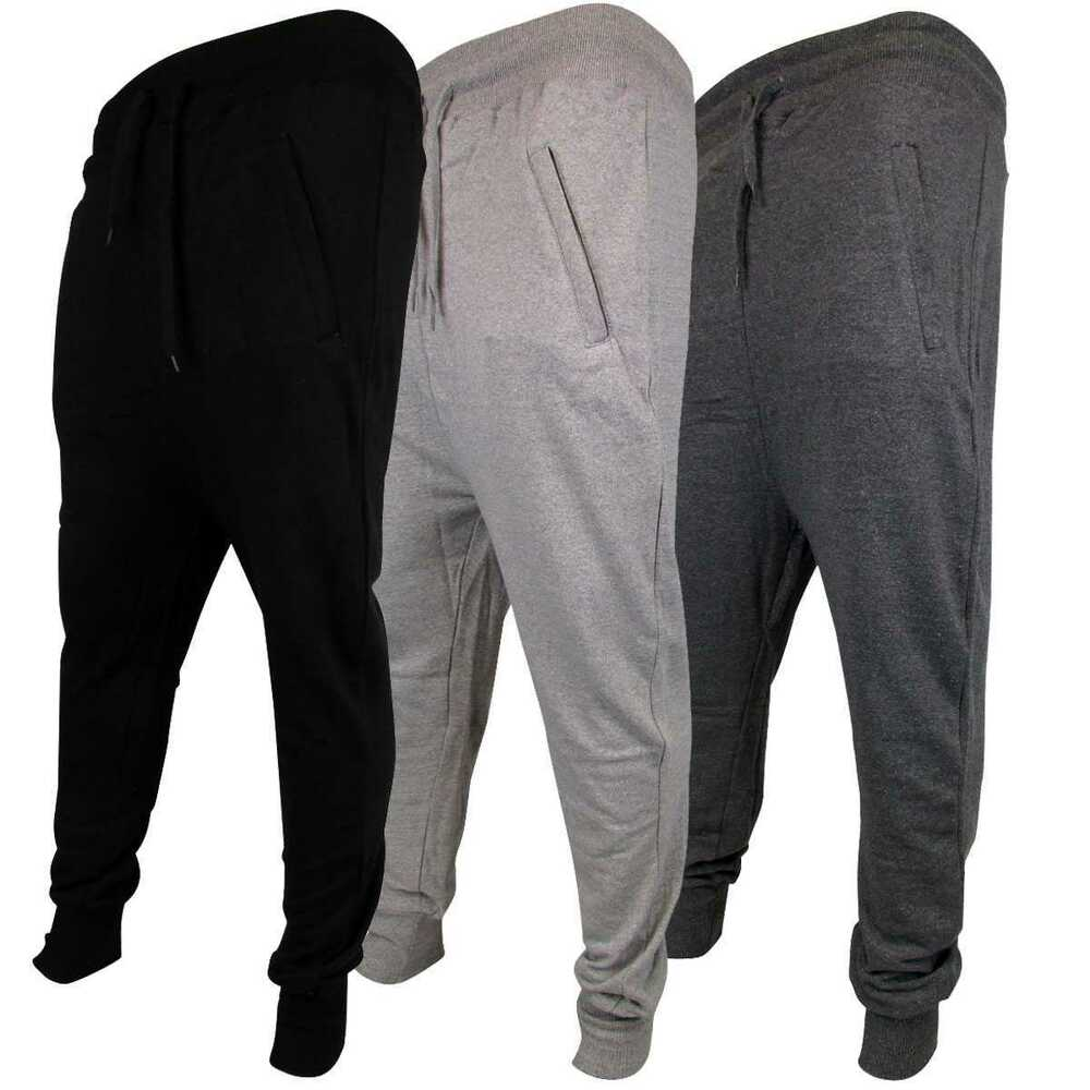 mens joggers skinny drop crotch cuffed jogging pants. Black Bedroom Furniture Sets. Home Design Ideas