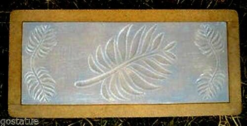 3 16th Plastic Bench Top Concrete Mold Fern Leaves Casting Garden Bench Mould Ebay