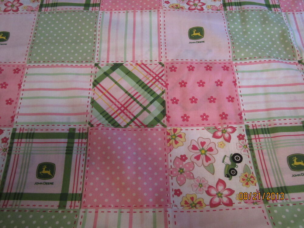 Girly John Deere Paintings : John deere pink girly baby toddler sheets set blocks ebay