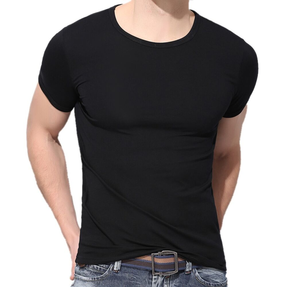 Men muscle training shirt slim short sleeve casual shirt t for Boys short sleeve t shirts