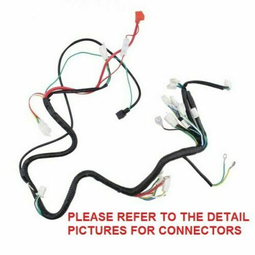 chinese gy6 250cc wire harness wiring assembly scooter 110 roketa wiring diagram