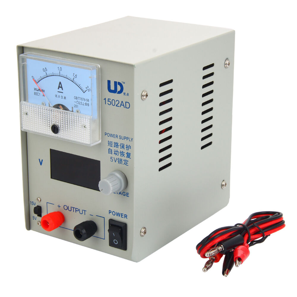 Digital Power Supply : V a switch adjustable dc regulated power supply