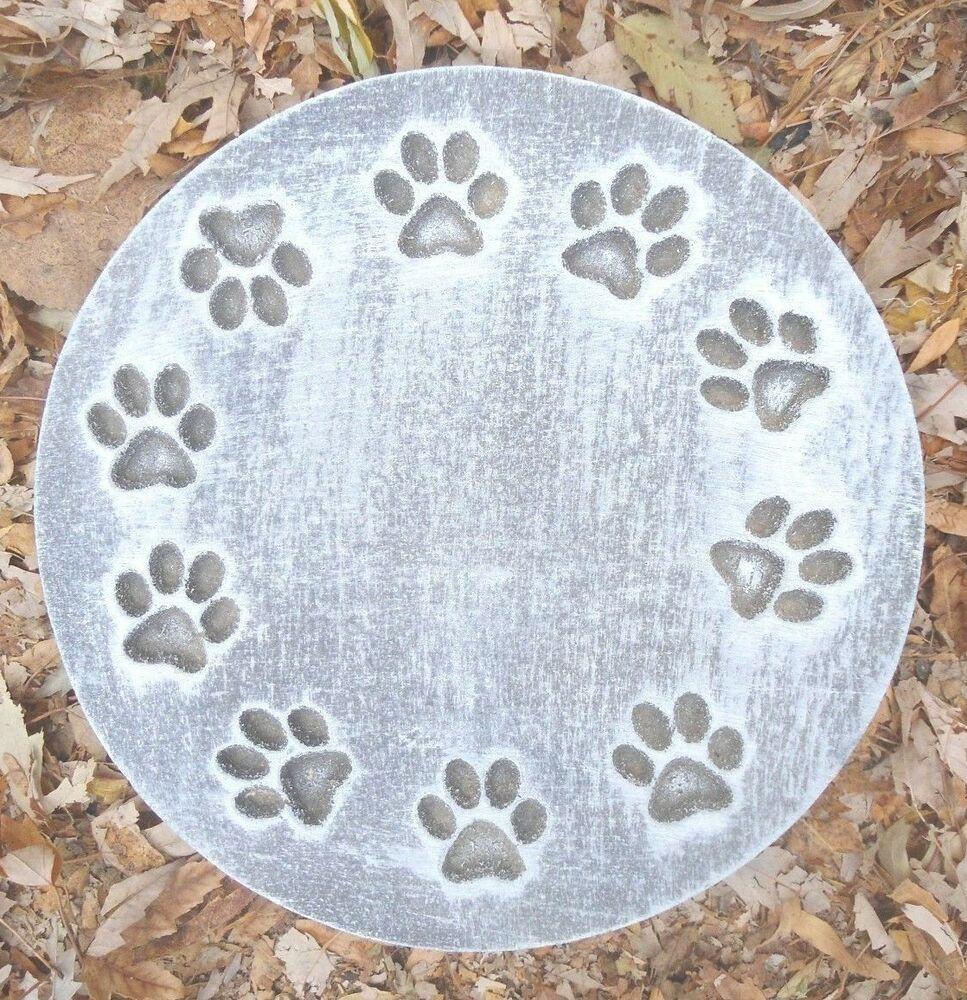 gostatue mold ring of pawprints plaque plastic mold for. Black Bedroom Furniture Sets. Home Design Ideas