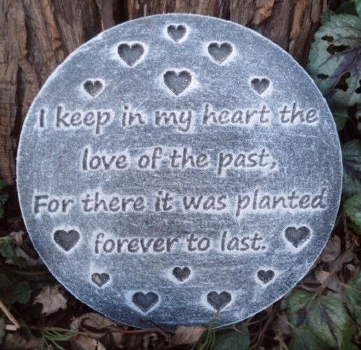 plastic memorial plaque mold garden ornament plaque stepping stone ebay. Black Bedroom Furniture Sets. Home Design Ideas
