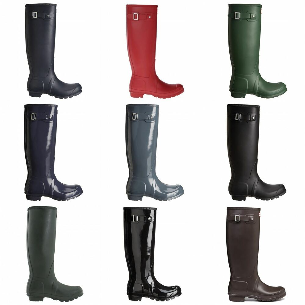 Amazing Hunter Womens Original Tall Rain Boots In Military Red