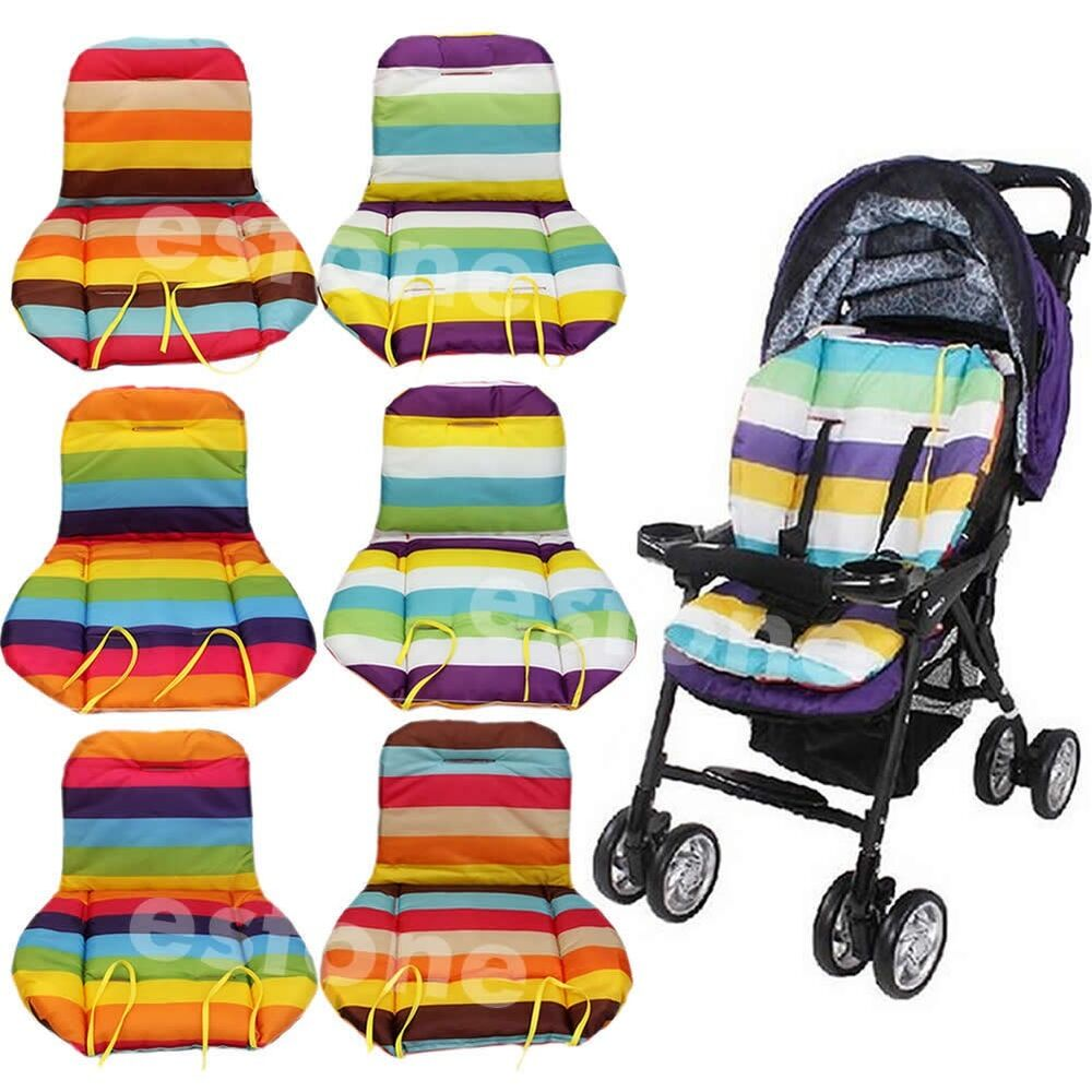 baby rainbow stroller waterproof cushion pad pram padding liner car seat pad ebay. Black Bedroom Furniture Sets. Home Design Ideas