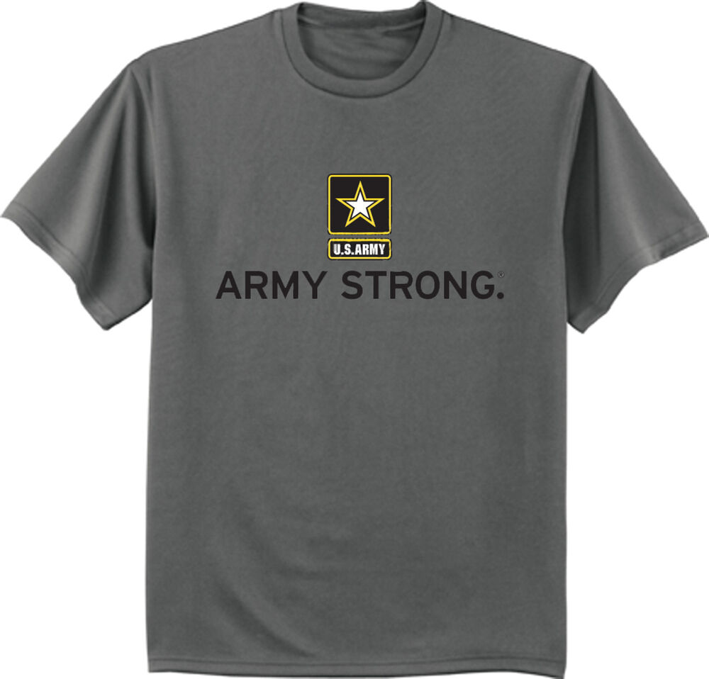 Us Army Strong T Shirt Army Tee Shirt Charcoal Gray Army