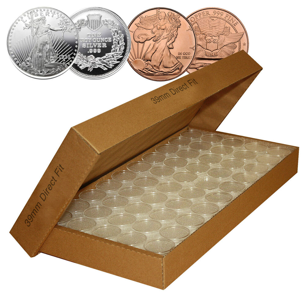 50 Direct Fit Airtight H39 Coin Capsules For 1oz Silver