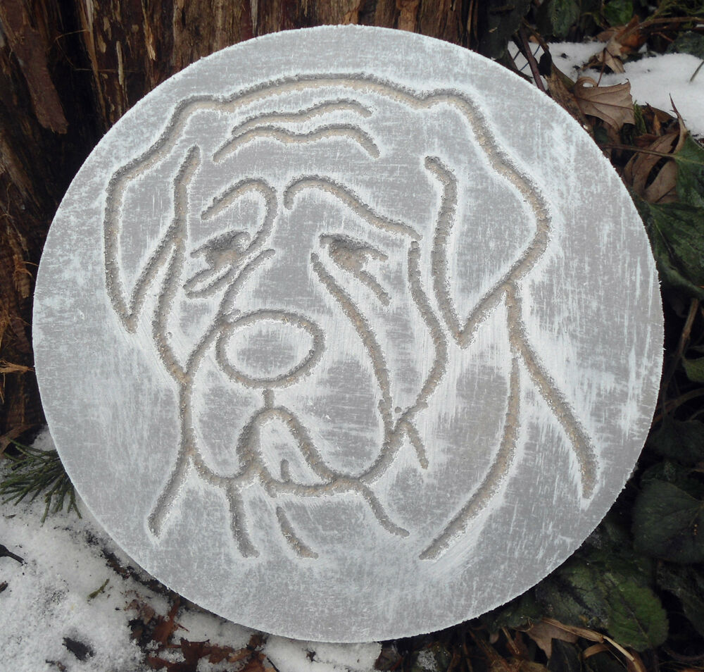 plastic plaque dog mold garden ornament casting plaque mould plaster concrete ebay. Black Bedroom Furniture Sets. Home Design Ideas