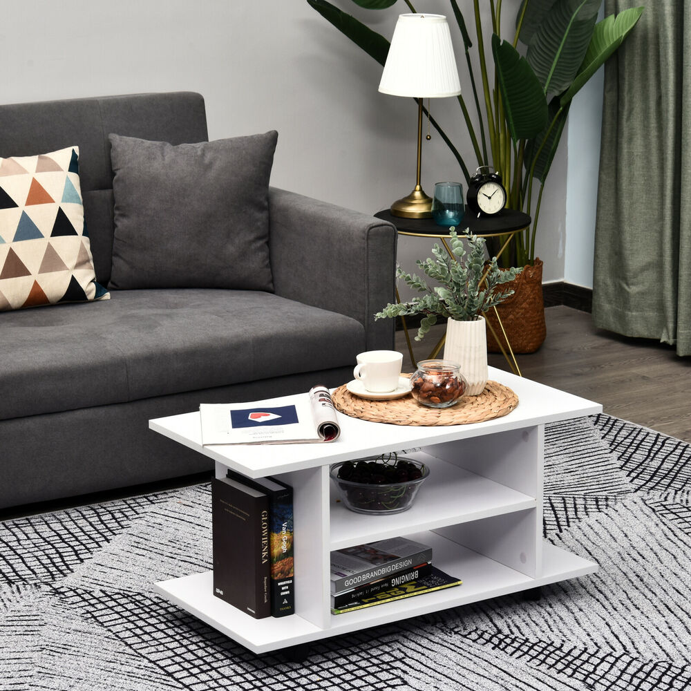 fernsehtisch lowboard tv rack board regal schrank rollen holz 80x40x40 cm ebay. Black Bedroom Furniture Sets. Home Design Ideas