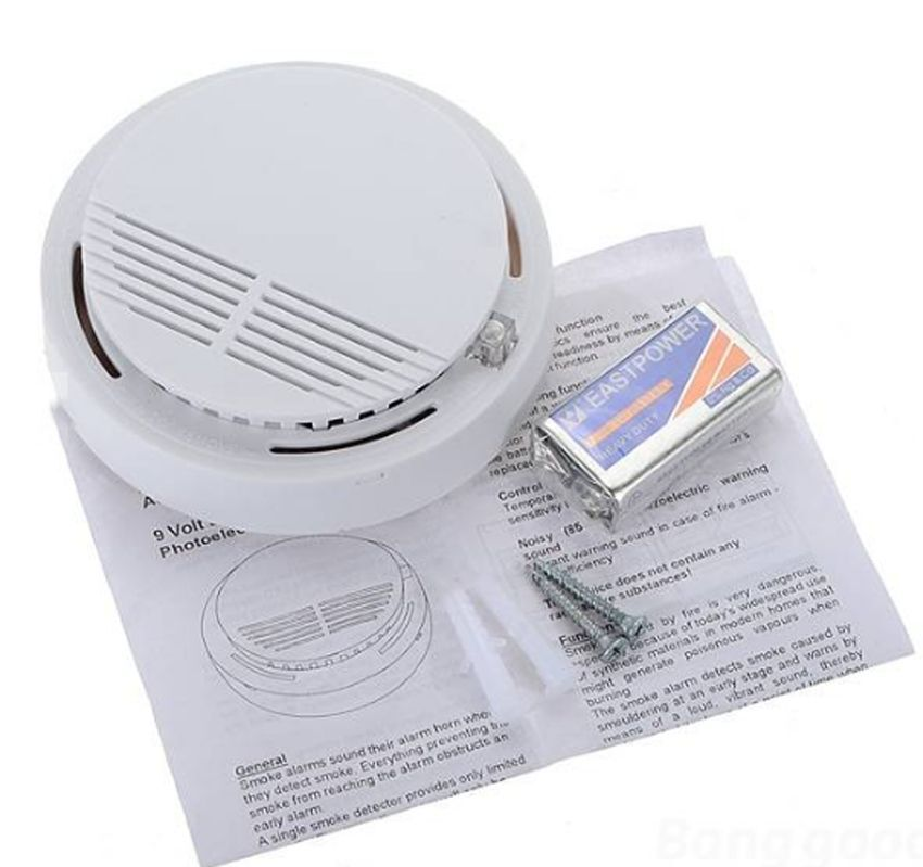 fire smoke detector portable high sensitive photoelectric wireless alarm sensor ebay. Black Bedroom Furniture Sets. Home Design Ideas