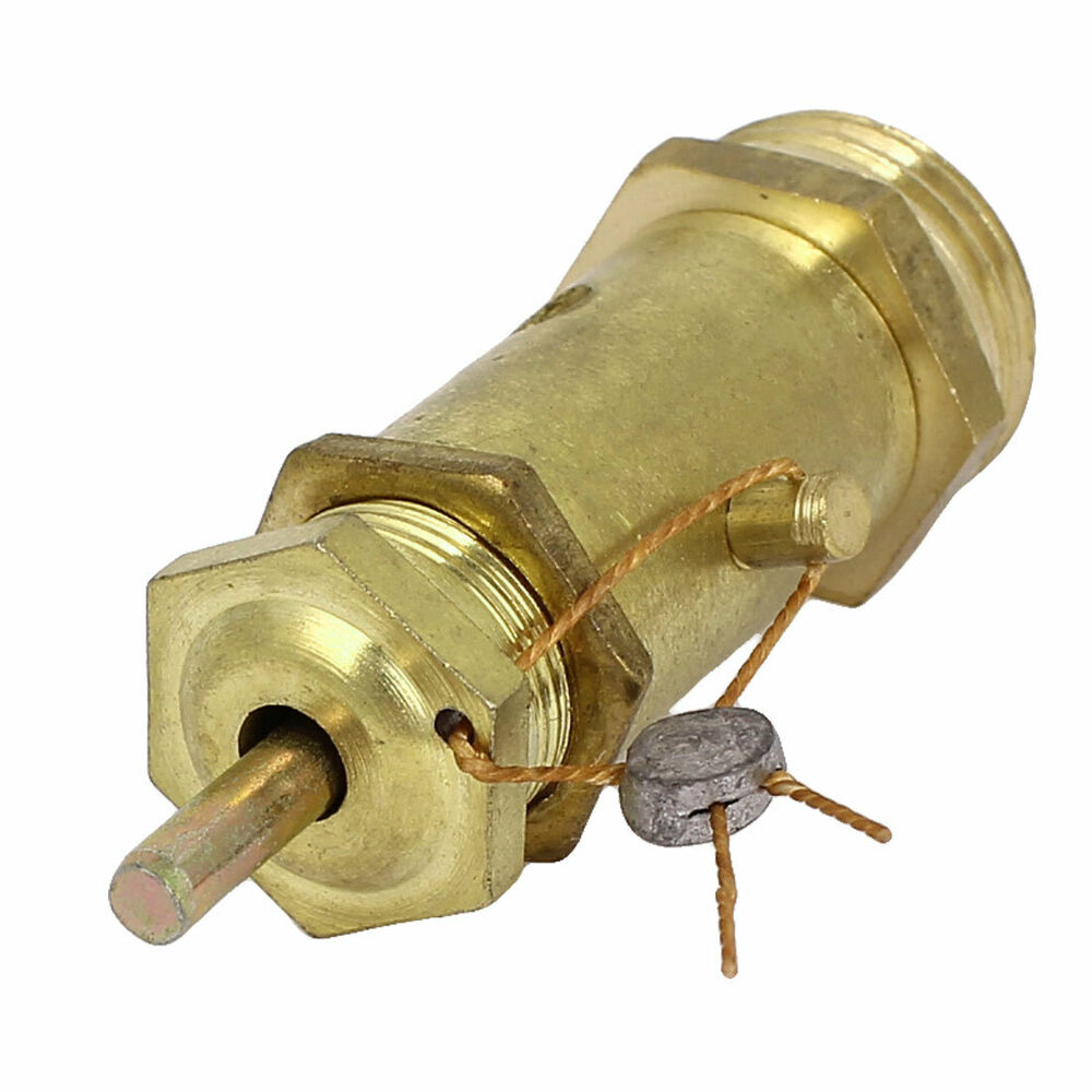Air compressor safety relief pressure valve brass tone