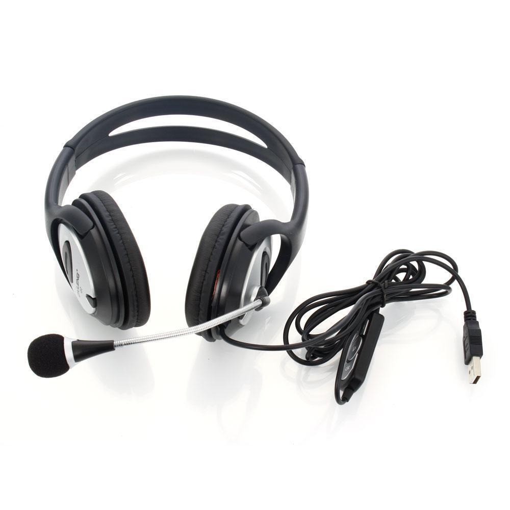 ov q2 usb computer stereo headphone with microphone for pc laptop notebook us ebay. Black Bedroom Furniture Sets. Home Design Ideas
