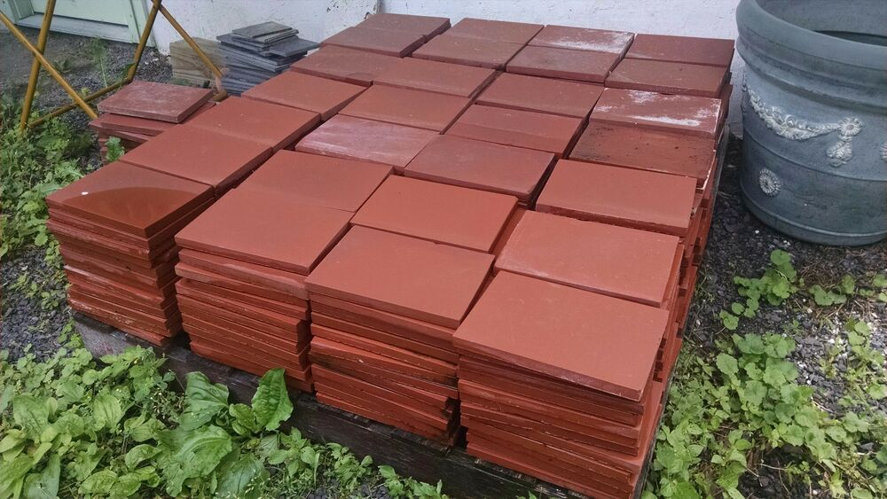 Quarry tile approx 364 pieces 6 x 9 or 137 sq ft ebay for 12x12 mexican floor tile