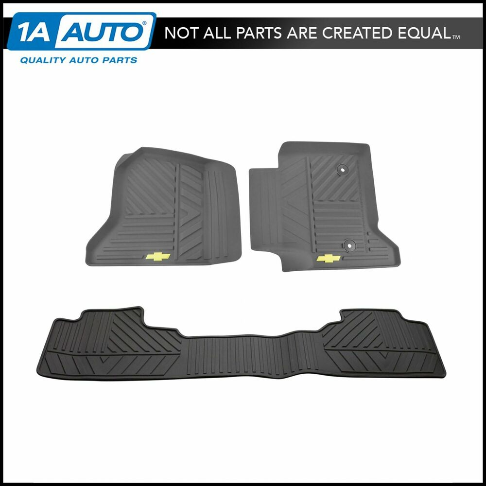 Oem Floor Mat Rubber Cocoa Front Amp Rear Kit Set Of 3 For