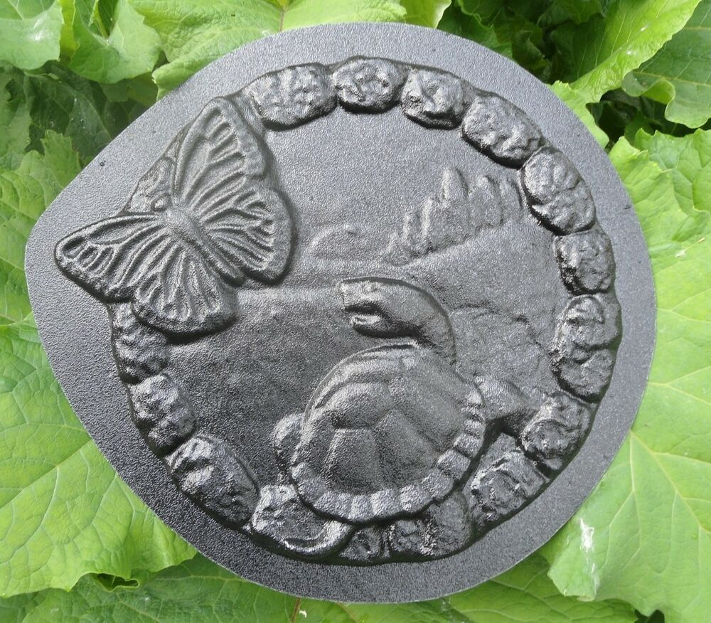 new plaster concrete turtle plaque plastic mold ebay. Black Bedroom Furniture Sets. Home Design Ideas