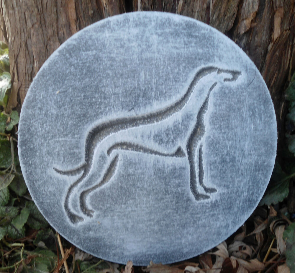 plastic plaque mold dog greyhound decorative stepping stone garden mold ebay. Black Bedroom Furniture Sets. Home Design Ideas