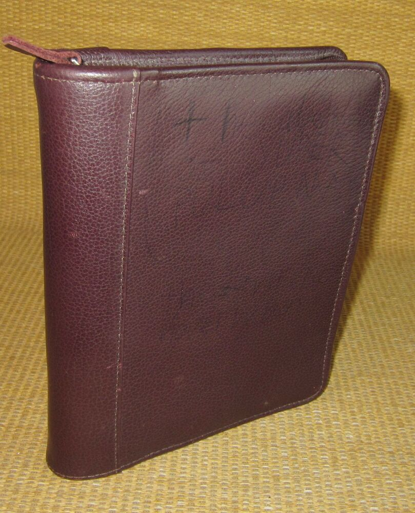 Burgundy LEATHER FRANKLIN COVEY/Quest