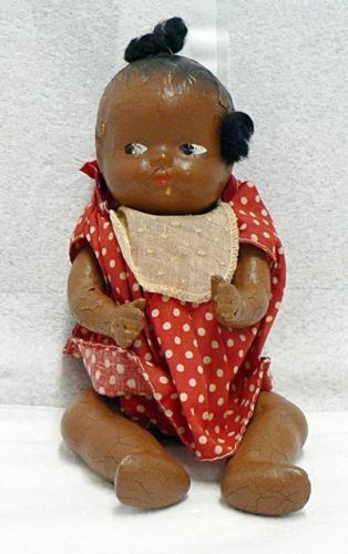 Vintage 10 Inch Composition African Black Doll Ebay