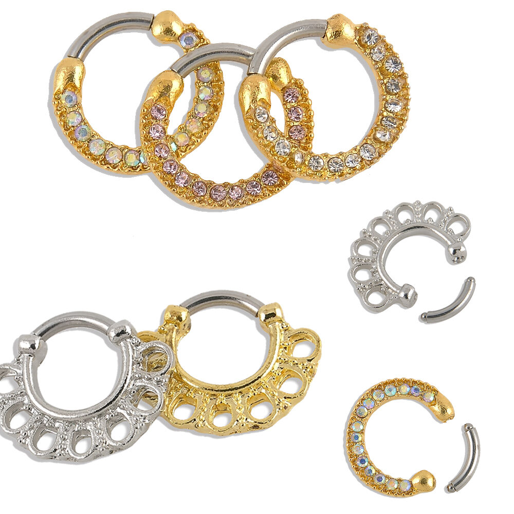 surg jewelry nose ring piercing jewelry septum clicker surgical 7290
