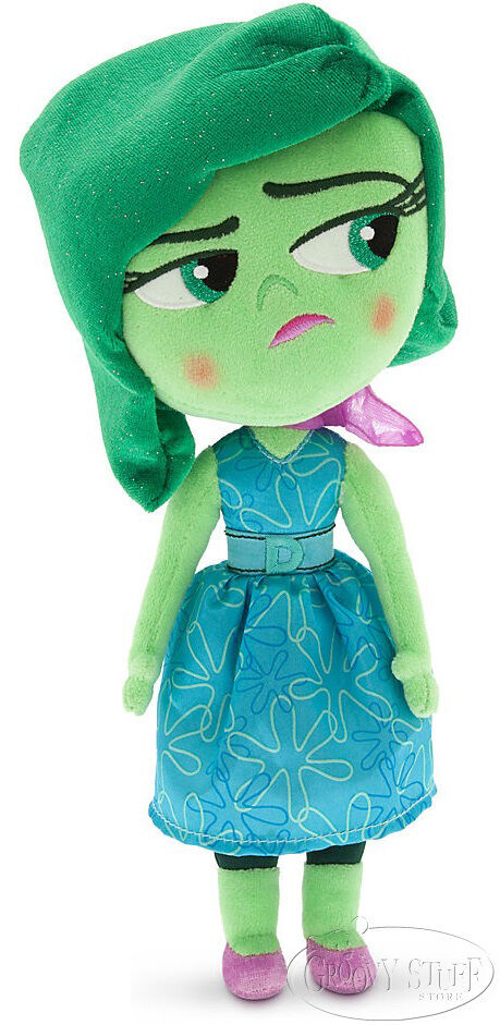 disney store disney pixar inside out disgust stuffed plush doll 11 in green new ebay. Black Bedroom Furniture Sets. Home Design Ideas