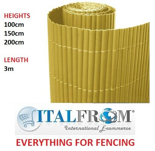 Bamboo Pvc Natural Screen Border Panel Fence Garden