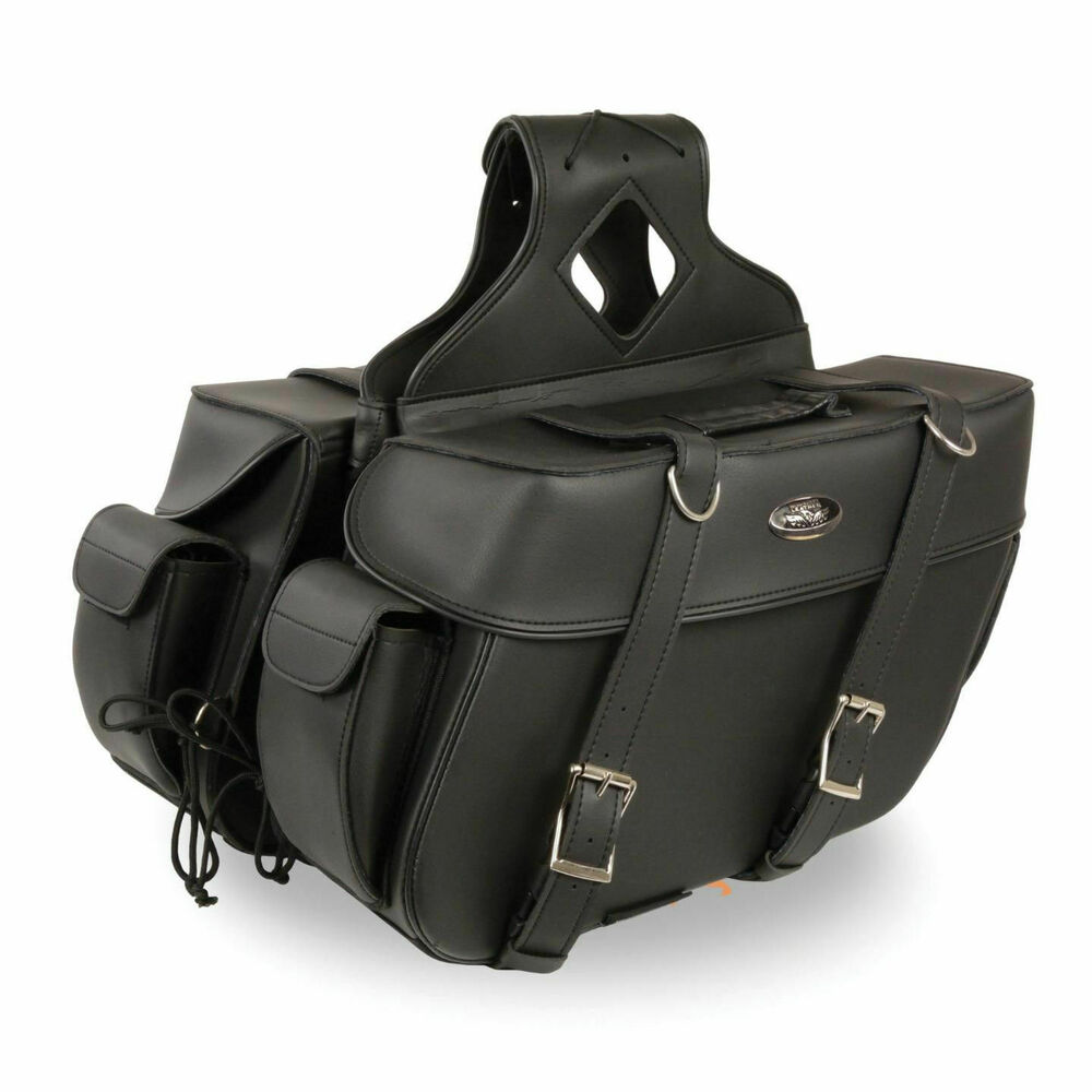 16 w motorcycle waterproof saddlebags w side pockets for for Motor cycle saddle bags